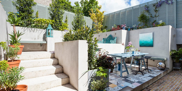Eclectic Patio by Kingston Lafferty Design