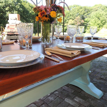 Reclaimed wood dining tables