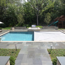 Contemporary Patio by Rosebrook Pools, Inc.
