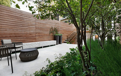 In London, a Crowded Patch of Grass Becomes a Patio for Entertaining