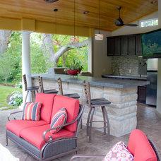 Traditional Patio by Interior Concrete