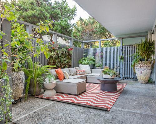 Inspiration For A Transitional Concrete Patio Vertical Garden Remodel In  San Francisco