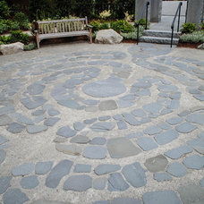 Contemporary Patio by Natural Stone Wall Solutions, Inc.