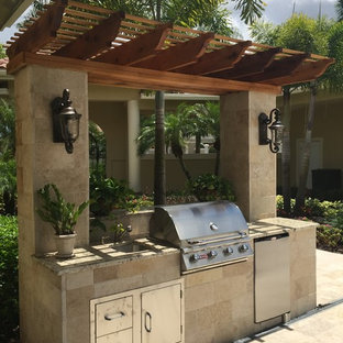 Renovation of Courtyard, Pool and Summer Kitchen for South Florida Residence