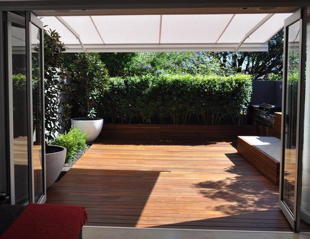 Modern Patio by Fuse Landscape Design