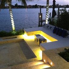 Contemporary Patio by Miami Lighting Design Assoc. Inc.