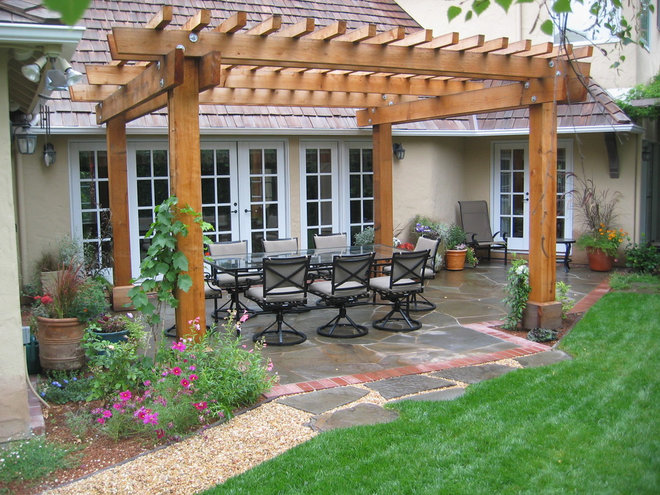 Traditional Patio by Verdance Landscape Design