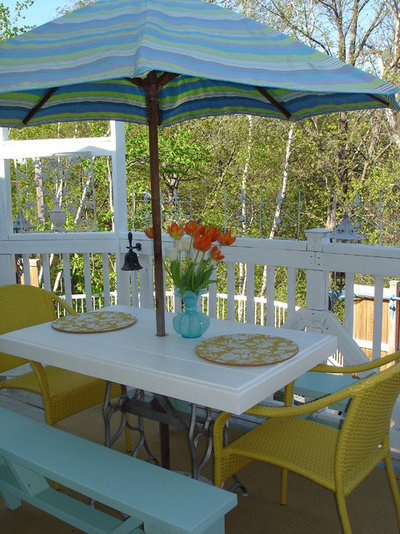 Fancy Eclectic Patio by Restyled Home