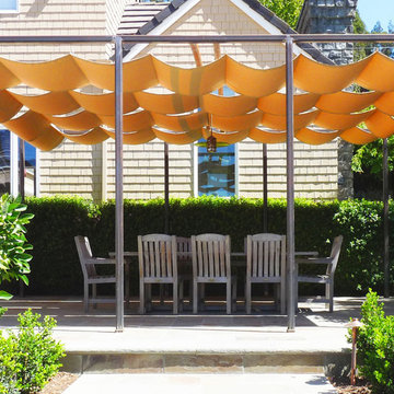 Retractable Sun Shade Covered Terrace