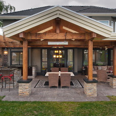 Traditional Patio by reVISION Custom Home Renovations Inc.