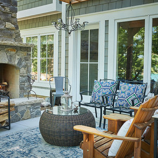 Idee per un patio o portico minimal