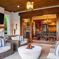 eclectic patio by Vanguard Studio Inc.