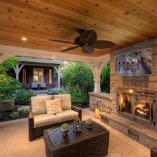 Transitional Patio by Cedar Springs Landscape Group