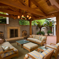 Transitional Patio by LMT Architecture LLC