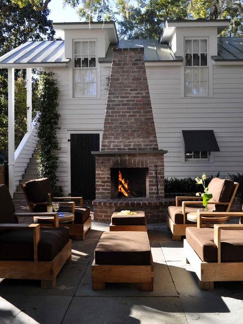 Outdoor Brick Fireplace Home Design Ideas, Pictures ... on Simple Outdoor Brick Fireplace id=73332