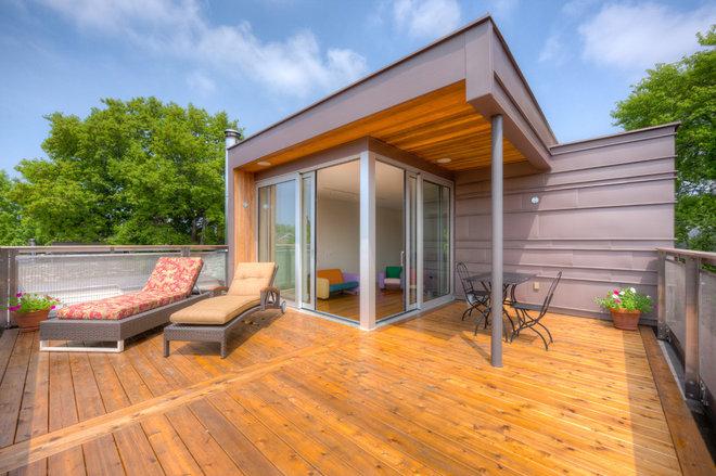 Contemporary Patio by Prevedello Design Build