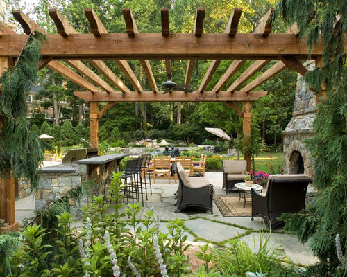 Rustic statues and figurines home design ideas photos for Pergola images houzz