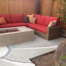 Eclectic Patio by haskell