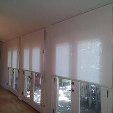 Contemporary Patio by DECO Window Fashions