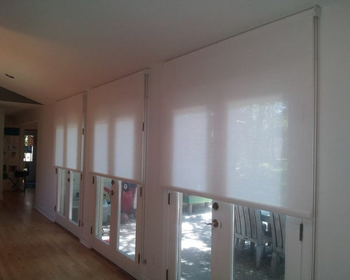 French door roller shades ideas pictures remodel and decor for Roller screens for french doors
