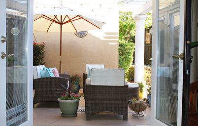 Patio of the Week: Bargain Pieces Take a Sunny Outdoor Room High End