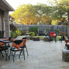 Transitional Patio by Travertine Warehouse