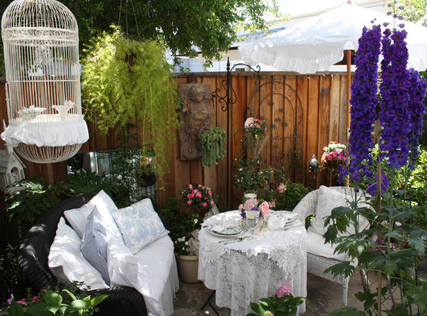 Shabby-chic Style Patio by My Romantic Home