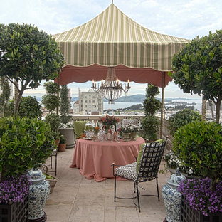 Inspiration for a timeless patio remodel in San Francisco with a gazebo