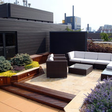 Modern Patio by Richard Woldorsky MNLA  / Bachman's Landscapes