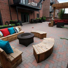 Contemporary Patio by Rooftopia, LLC