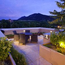 Mediterranean Patio by R DESIGN  Landscape Architecture  P.C.