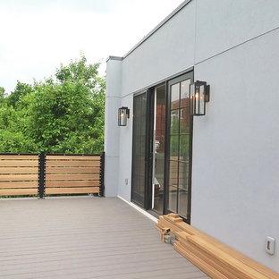 Inspiration pour une très grande terrasse et balcon urbaine.