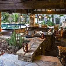 Traditional Patio by Medallion Pool Co.