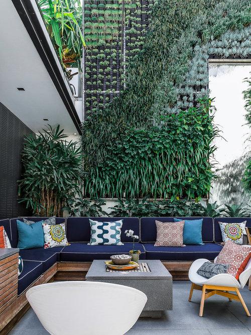 foto e idee per patii e portici - patio o portico contemporaneo ... - Idee Patio Con Giardino