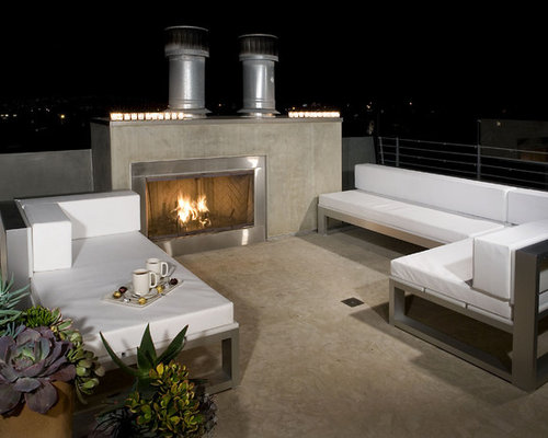 Rooftop Fireplace | Houzz
