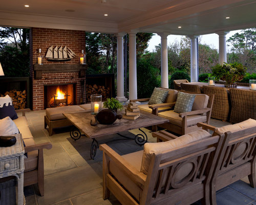 Outdoor Covered Living Space | Houzz on Houzz Outdoor Living Spaces id=73030