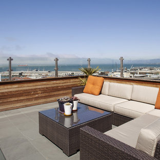 This is an example of a contemporary patio in San Francisco.