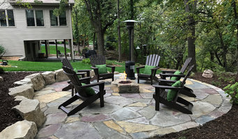 Rustic Backyard Fire Pit & Patio