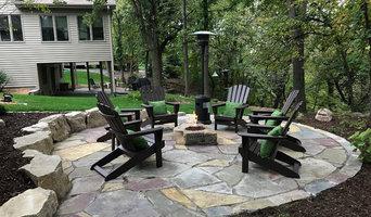 Rustic Backyard Fire Pit & Patio