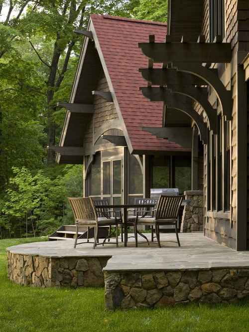 Raised Patio With Steps: Raised Stone Patio Home Design Ideas, Pictures, Remodel