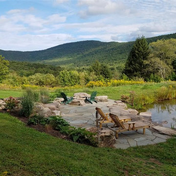 Rustic Getaway Patio and Pond