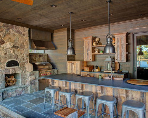 1 823 rustic outdoor kitchen design ideas remodel for Outdoor kitchen ideas houzz