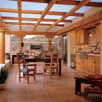 Rustic Out Door Kitchen