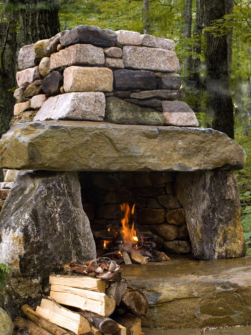 houzz rustic outdoor fireplace design ideas remodel