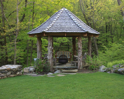 Hexagon gazebo home design ideas pictures remodel and decor for Pavilion style home designs