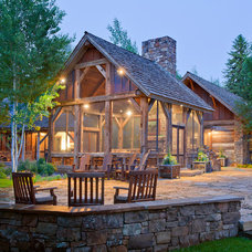 Rustic Patio by JLF & Associates, Inc.