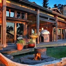 Rustic Patio by Dennis Paige Real Estate