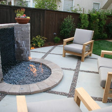 Traditional Patio by Square Root Design Studio