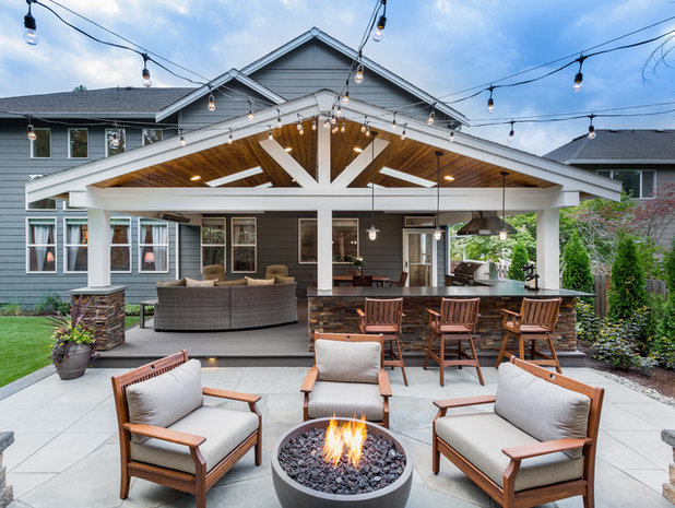 Transitional Patio by Urban Oasis Design & Construction LLC
