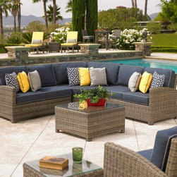 San Diego Outdoor Furniture - Bainbridge Sectional by Northcape Int.